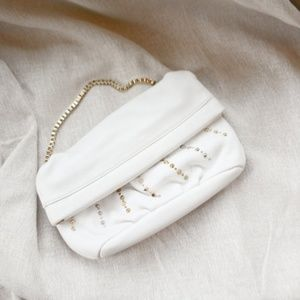 EUC Ann Taylor LOFT Fold Over Embellished Purse